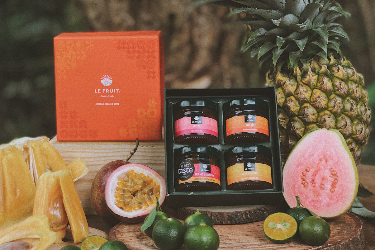 What is special in LE FRUIT Jam 30gr Gift Box?
