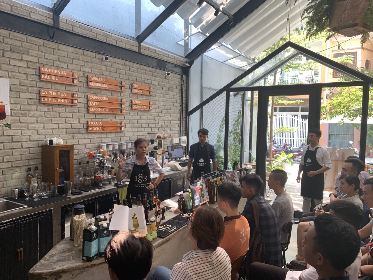 Barista workshop in Da Nang province