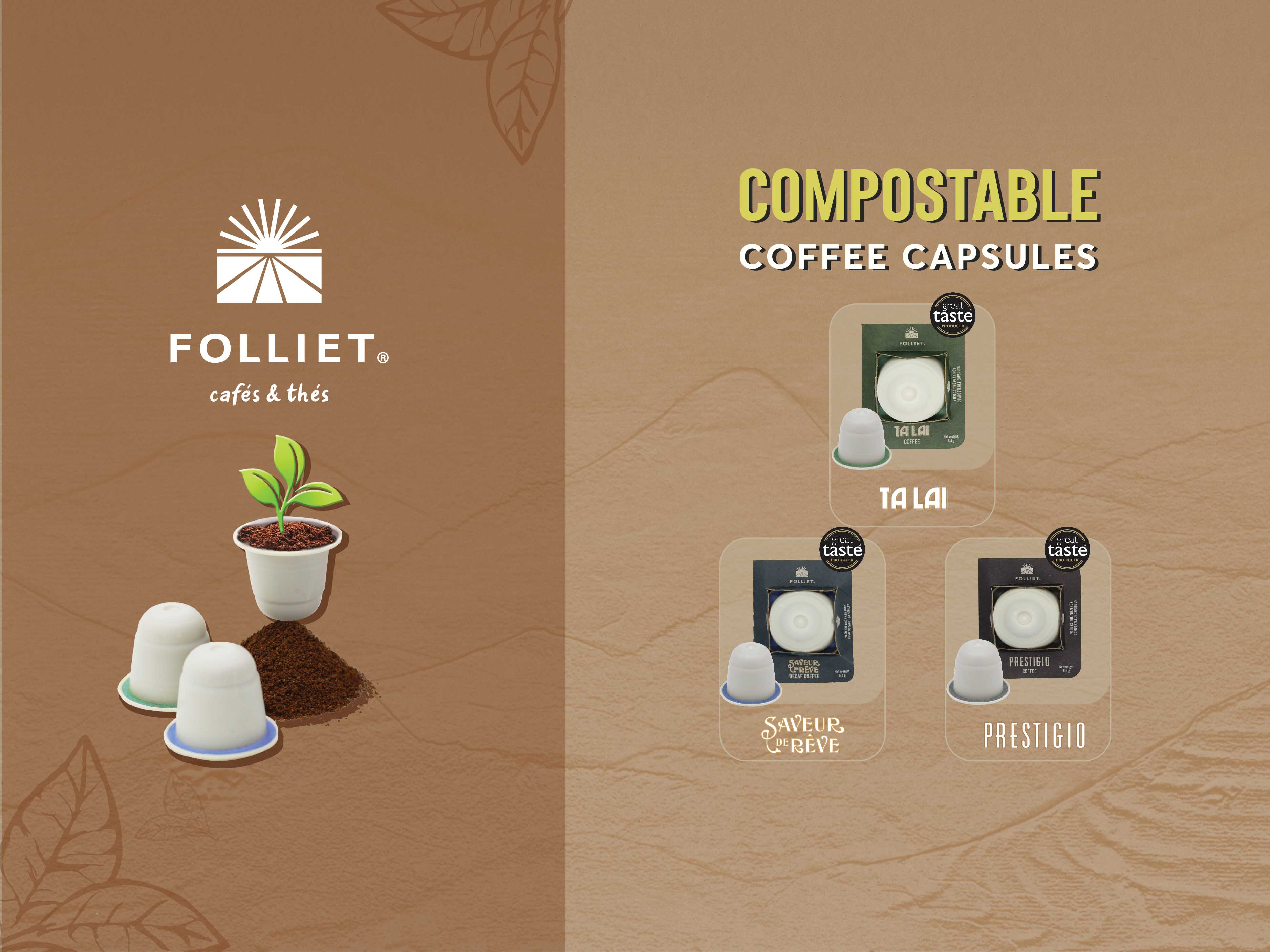 Folliet® Compostable Coffee Capsules